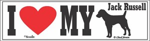 Jack Russell Bumper Sticker I Love My