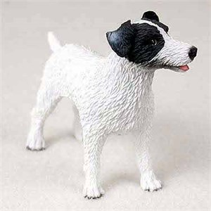 Jack Russell Terrier Figurine Rough BW