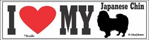 Japanese Chin Bumper Sticker I Love My