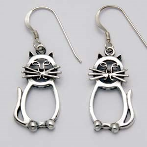 Cat Loop Earrings