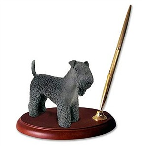Kerry Blue Terrier Pen Holder