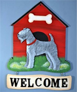 Kerry Blue Terrier Welcome Sign