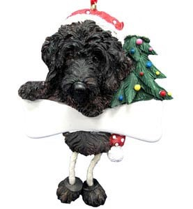 Labradoodle Ornament (Black)