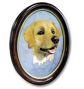 Yellow Lab Sculptured Portrait