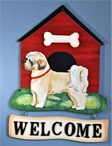 Lhasa Apso Welcome Sign Puppy Cut