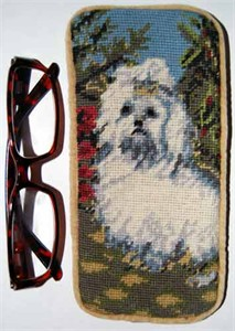 Maltese Eyeglass Case