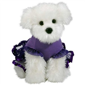 Maltese Plush Stuffed Animal 10.5 Inch