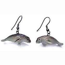 Manatee Earrings