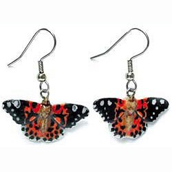 Painted Lady Butterfly Earrings