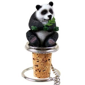 Panda Bear Bottle Stopper