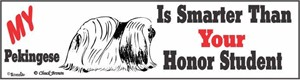 Pekingese Bumper Sticker Honor Student