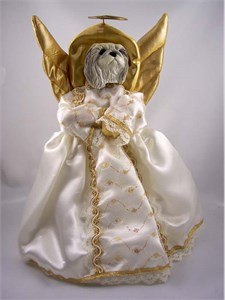Pekingese Angel Christmas Tree Topper