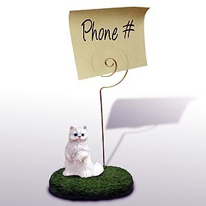 Persian Cat Note Holder