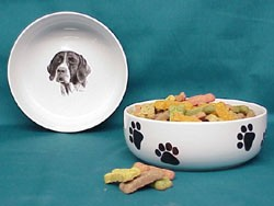German Shorthaired Pointer Dog Bowl