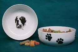 Saint Bernard Dog Bowl