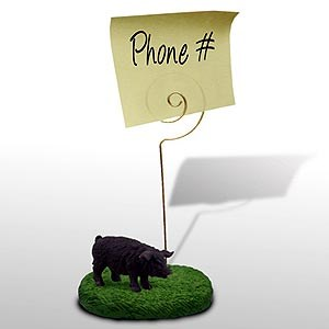 Pig Note Holder (Black)