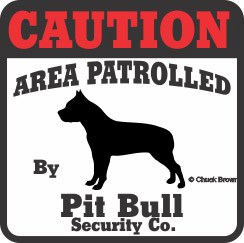 Pit Bull Bumper Sticker Caution