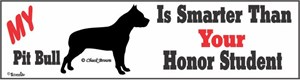 Pit Bull Bumper Sticker Honor Student