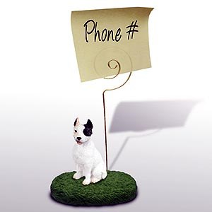 Pit Bull Terrier Note Holder (White)