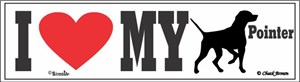 Pointer Bumper Sticker I Love My