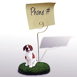 Pointer Note Holder (Brown & White)