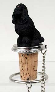 Poodle Bottle Stopper (Black)