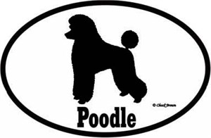 Poodle Bumper Sticker Euro