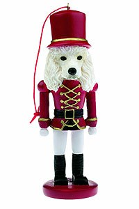 Poodle Ornament Nutcracker