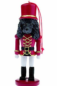 Poodle Ornament Nutcracker (Black)