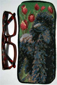 Poodle Eyeglass Case Black