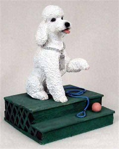 Poodle Figurine White Sport Cut MyDog