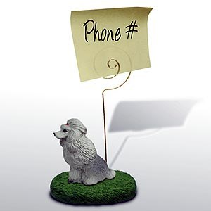 Poodle Note Holder (Gray)
