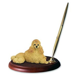 Poodle Pen Holder (Apricot)