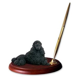Poodle Pen Holder (Black)