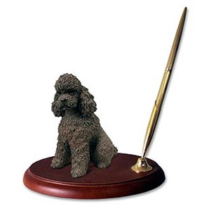 Poodle Pen Holder (Chocolate Sport cut)