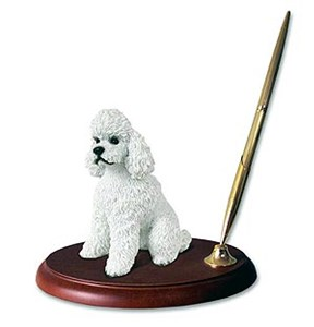 Poodle Pen Holder (White Sport cut)