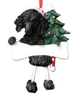 Poodle Ornament (Black)