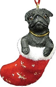 Pug Ornament (Black)