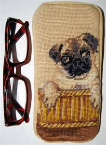 Pug Eyeglass Case