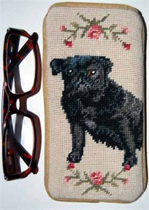 Pug Eyeglass Case Black