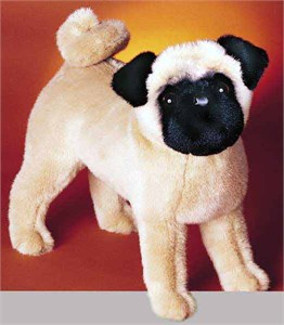Pug Plush Stuffed Animal 14 Inch