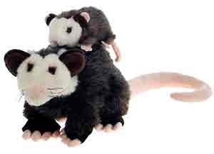 Opossum Plush Mama and Baby