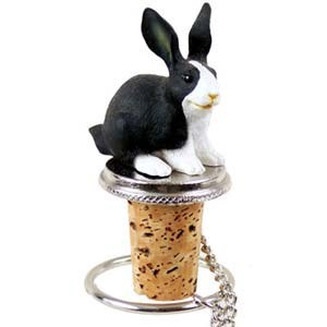 Rabbit Bottle Stopper (Black & White)