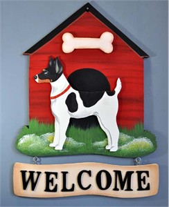 Rat Terrier Welcome Sign