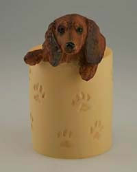 Red Dachshund Pencil Holder
