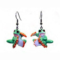 Red Eyed Tree Frog Earrings