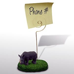 Rhinoceros Note Holder