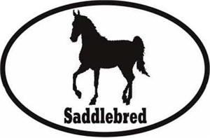 Saddlebred Horse Bumper Sticker Euro
