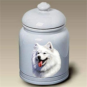Samoyed Treat Jar
