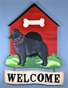 Schipperke Welcome Sign